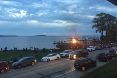 After the ceremonial fire was lit, fires around Eagle Harbor began to ignite against a beautiful sunset in true Scandinavian spirit.