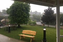 A beautiful rain began to fall in Ephraim just as the event was supposed to start a 10am Saturday morning.